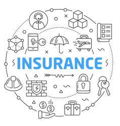 linear insurance vector image