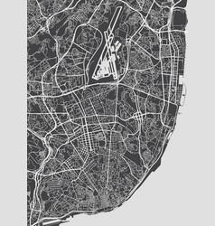 Lisbon city plan detailed map vector