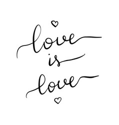 love is love lettering inscription vector image
