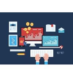 Mobile marketing online shopping education vector