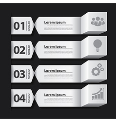 Modern business banner box infographic vector