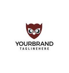 owl face logo design concept template vector image
