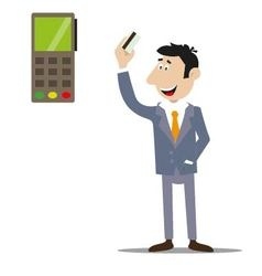 Payment of goods and services by credit card vector