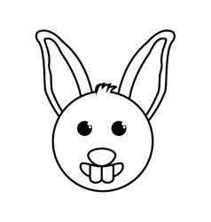 Rabbit animal farm isolated icon vector