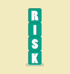 risk blocks flat style vector image