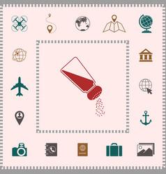 salt or pepper shaker elements for your design vector image