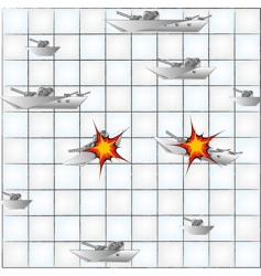 Sea battle vector