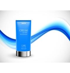 Skin moisturizer cosmetic design template vector image