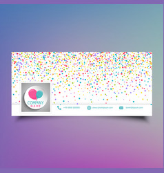Social media timeline cover design with colourful vector