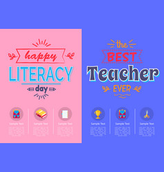 two posters school theme vector image