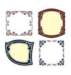 Vintage frames colored vector
