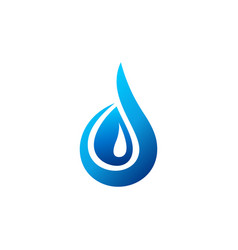 water drop logo blue waterdrop symbol letter d vector image