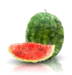 Watermelon isolated triangle design vector