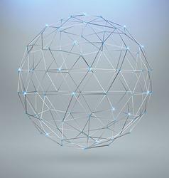 Wireframe polygonal element 3d sphere vector