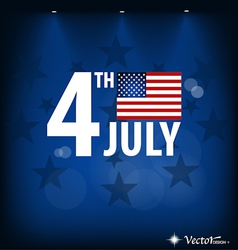 American Flag card for Independence Day vector image vector image