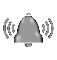 bell sign icon vector image
