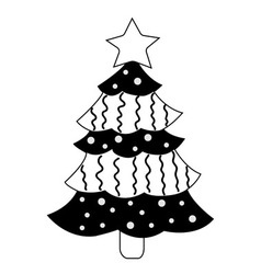 Christmas tree on white background vector