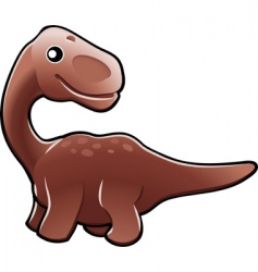 cute diplodocus dinosaur illustration vector image