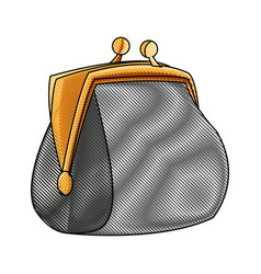 drawing money purse safe finance icon vector image vector image