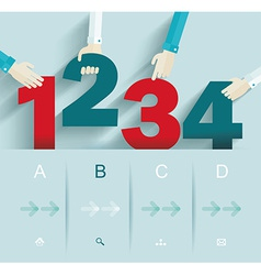 Number options template Can be used for workflow vector image