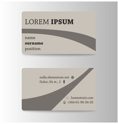 Business card creative visit card vector
