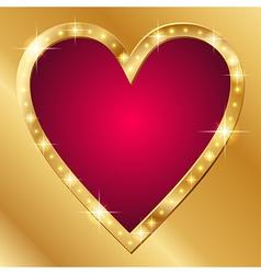 Flash banner valentine vector image