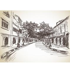 Town street vector image