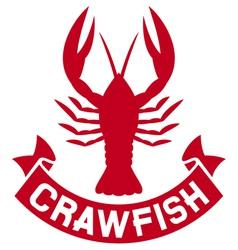 Crawfish label vector