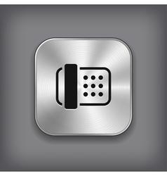 Fax icon - metal app button vector