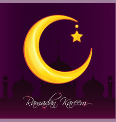 Greeting card template for muslim holiday with vector
