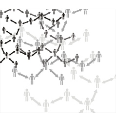 Human connection vector image vector image