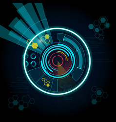 interface preview vector image