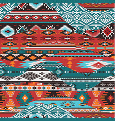 native american waves patchwork vector image vector image