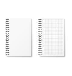 Two realistic notebook vector image vector image