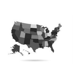 usa states map isolated for infographic vector image