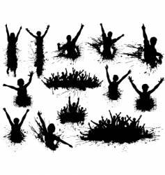 celebration grunge vector image