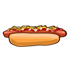 colorful hot dog template vector image
