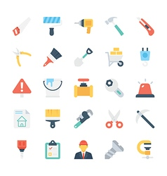 Construction Colored Icons 1 vector image