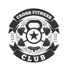 Cross Fitness Club vector image