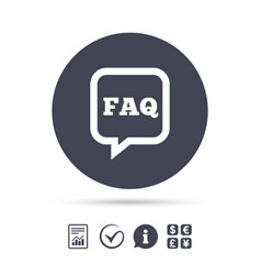 faq information sign icon help symbol vector image vector image