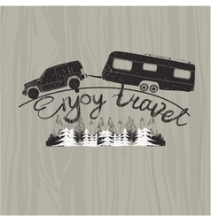 lettering travel typographic camp calligraphy vector image vector image