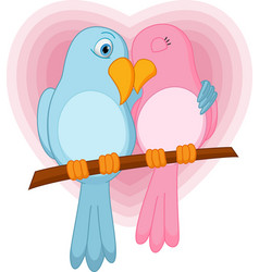 lovely bird on a branch vector image vector image