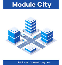 3d map city on white vector image