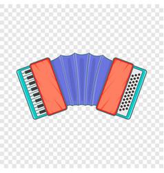 Accordion icon cartoon style vector