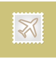Airplane stamp vector image