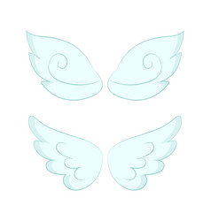 angel wings white feathers isolated object vector image