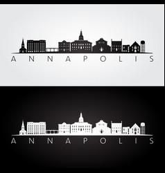 annapolis usa skyline and landmarks silhouette vector image