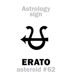 Astrology asteroid erato vector