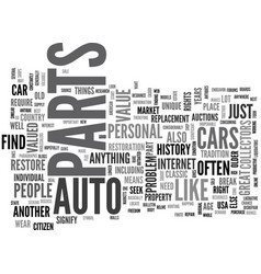 Auto parts how do i find the rare ones text word vector