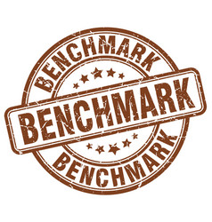 Benchmark brown grunge stamp vector